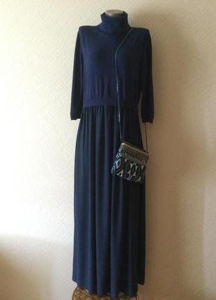 Роскошное комбинированное платье класса люкс  от  riani.