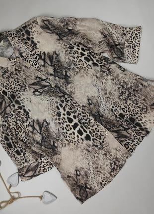 Блуза стильная натуральная в тигровый принт marks&spencer uk 16/44/xl
