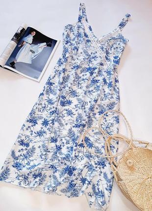 Льняное миди платье / сарафан
