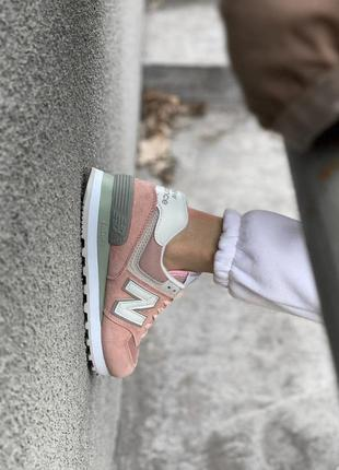 Шикарные женские кроссовки new balance 574 наложка3 фото