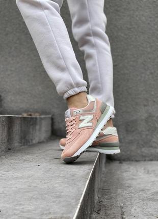 Шикарные женские кроссовки new balance 574 наложка4 фото