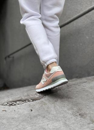 Шикарные женские кроссовки new balance 574 наложка5 фото