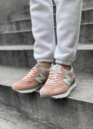Шикарные женские кроссовки new balance 574 наложка8 фото