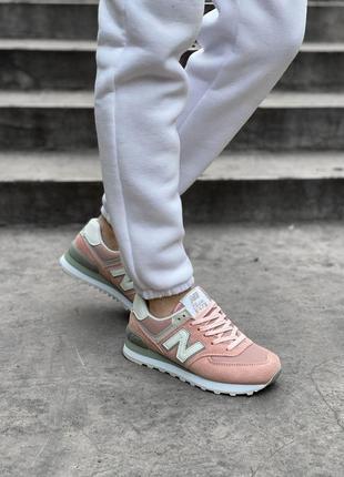 Шикарные женские кроссовки new balance 574 наложка10 фото