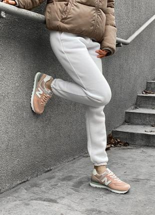 Шикарные женские кроссовки new balance 574 наложка9 фото