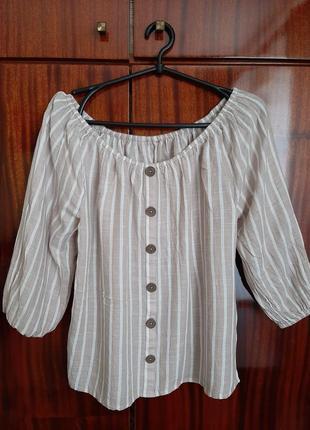 Блуза легкая из прияьтного материала
