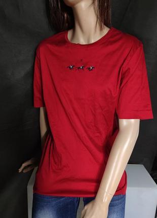 Стильна натуральна бавовняна футболка2 фото
