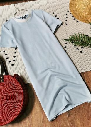 Фактурна блакитна сукня-футболка atmosphere голубое платье