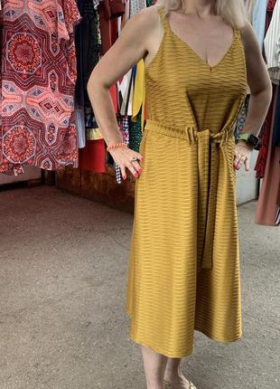 Горчичное платье миди платье желтое вечернее платье