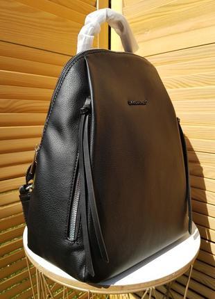 Популярный стильный черный женский рюкзак david jones