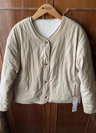 Куртка uniqlo quilted reversible jacket fleece новая двухсторонняя