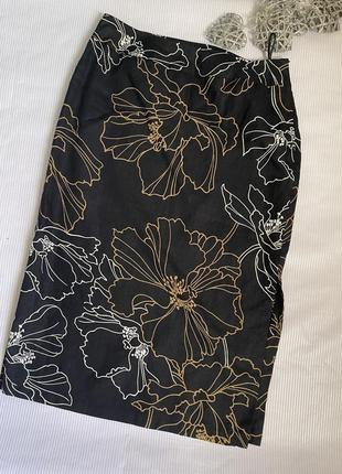 Шикарная брендовая юбка лён 100%