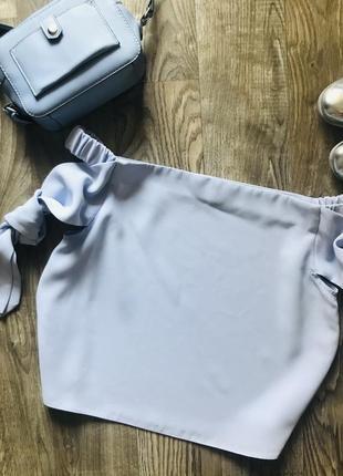 Красивая блуза с открытыми плечами🍀