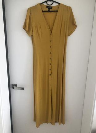 Желтое  платье миди, с р.