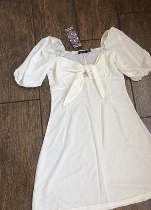 Новое летнее платье с бирками на завязках легкое boohoo