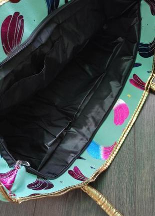 Яркая пляжная сумка5 фото