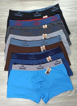 Боксеры uomo shantao хлопок спортивная резинка 3xl (50) цвета на выбор (047)