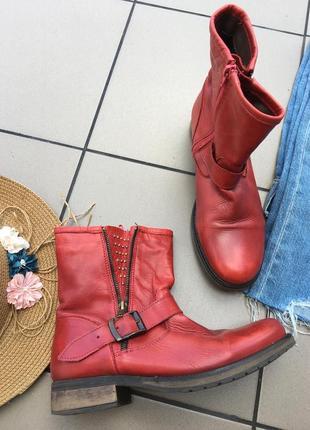 Кожаные сапоги ботинки сапожки ботинки