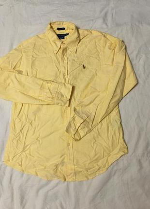 Рубашка ralph lauren оригинал желтая