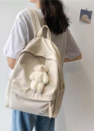 Нейлоновый водонепроницаемый рюкзак , однотонный школьный рюкзак,повседневный ранец, сумка для ноута