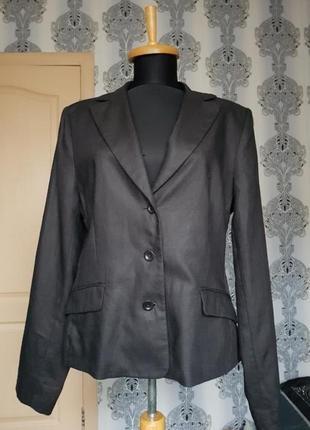 Скидка брендовый льняной базовый топовый однобортный классический черный пиджак жакет блейзер 100%  лен