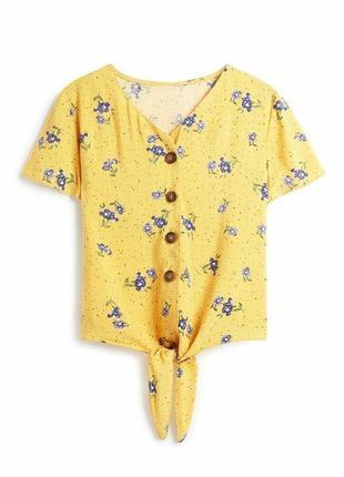 Вискозная блузка футболка сафари primark 10-11 лет