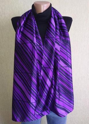 Роскошный шарф из натурального шелка, шов роуль
