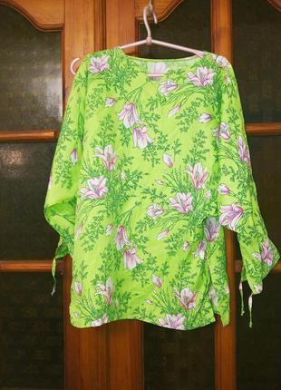 Туника, блуза пляжная летняя, xs,s,165 см