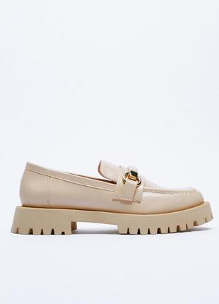 Туфлі zara (устілка 100% - шкіра)