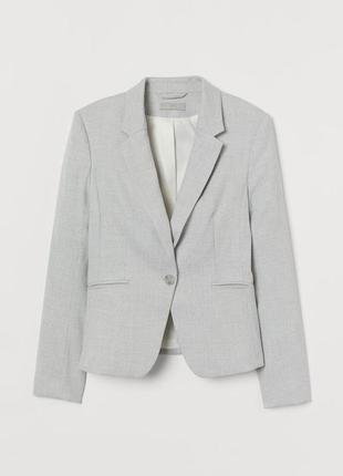 Серый пиджак hm,серый короткий жакет