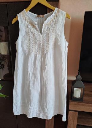 Стильное льняное платье carla conti
