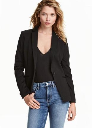 Пиджак / жакет / блейзер / чёрный женский пиджак на одну пуговицу h&m
