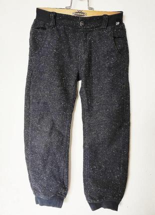 Брюки chicco 5 лет 110 теплые шерстяные штаны джинсы
