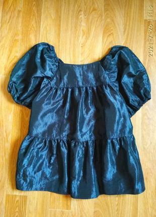 Шикарная ярусная блуза с квадратным вырезом