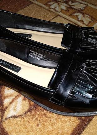 Лаковые туфли лоферы 25,5 см