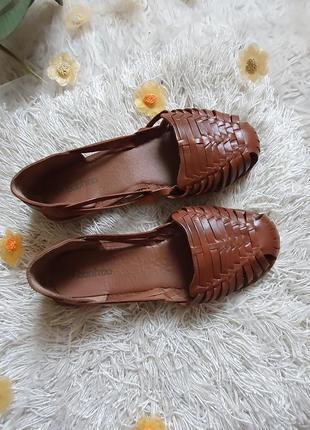 Шикарнейшие кожаные туфли босоножки вооhoo! размер 40