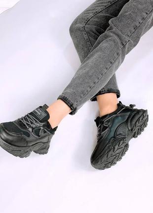 Кросівки  еко-шкіра + текстиль сітка