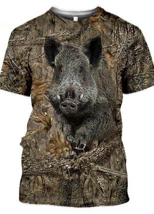 Мисливська футболка з кабаном