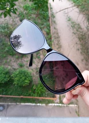 Стильные качественные квадратные изящные очки минимализм 3 категория защиты из 4 существующих7 фото