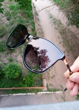 Стильные качественные квадратные изящные очки минимализм 3 категория защиты из 4 существующих5 фото