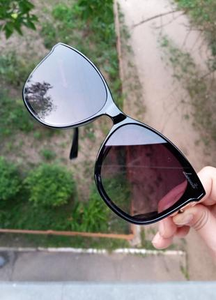 Стильные качественные квадратные изящные очки минимализм 3 категория защиты из 4 существующих6 фото
