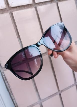 Стильные качественные квадратные изящные очки минимализм 3 категория защиты из 4 существующих2 фото
