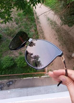 Стильные качественные квадратные изящные очки минимализм 3 категория защиты из 4 существующих8 фото