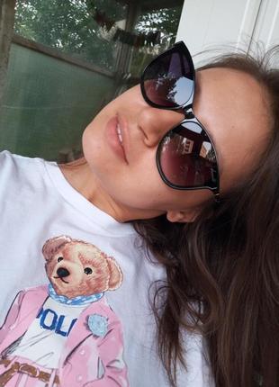 Стильные достаточно крупные женские очки 3 категория защиты из 4 минимализм3 фото