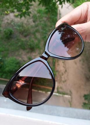 Стильные аккуратные небольшие женские очки кошки очки лисички 3 категория защиты из 4