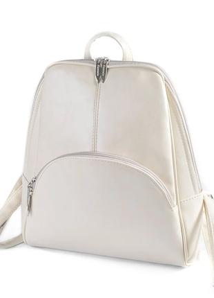 Рюкзак женский молочный код 25-134