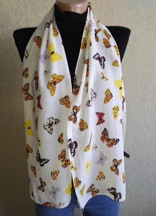 Прекрасный винтажный шарф из натурального шелка