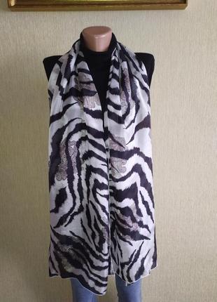 Codello фирменный шарф с притом из натурального шелка