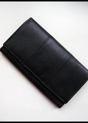 Объемный кожаный кошелек – 100% натуральная мясистая кожа