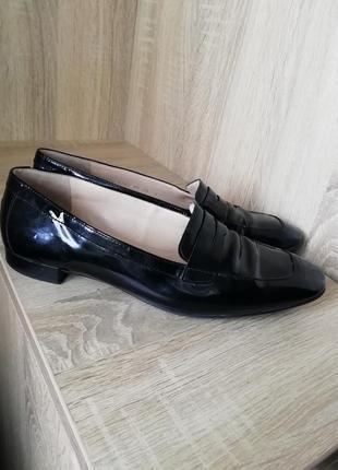 Кожаные туфли лоферы большого размера